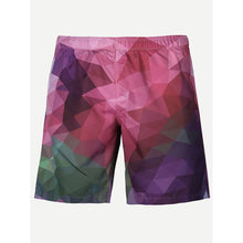Men Geometric Print Shorts