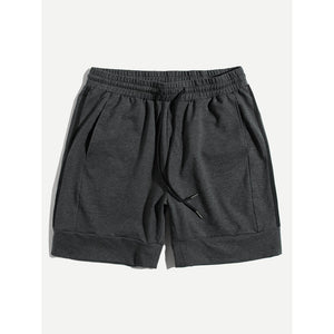 Men Striped Side Drawstring Waist Shorts