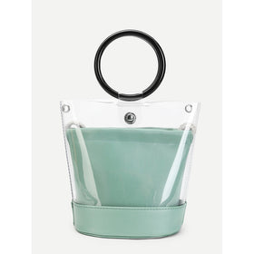 Ring Handle Clear Chain Bag