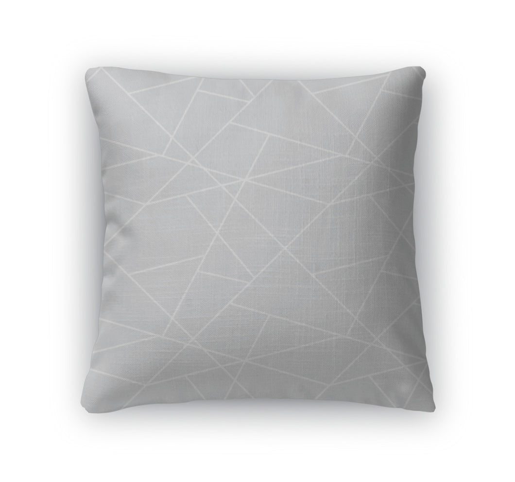 Throw Pillow, Geometric Simple Pattern Gray Abstract Backgro