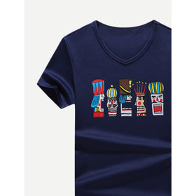 Men Cartoon Figure Print Tee
