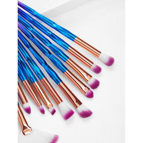 Ombre Handle Makeup Brush 15pcs