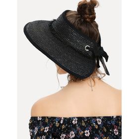Roll Up Straw Visor Hat