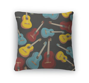 Throw Pillow, Pattern Isolated Guitars