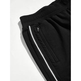 Men Zip Pocket Peg Leg Pants