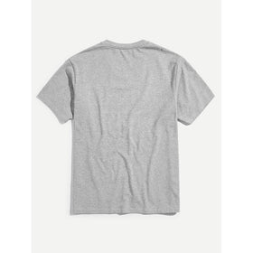 Men V-Neck Heather Knit T-shirt