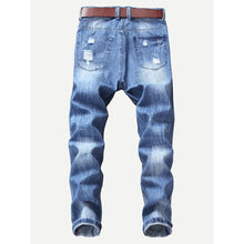 Men Ripped Stretch Slim Jeans