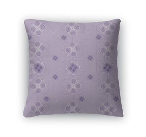 Throw Pillow, Lilac Pattern