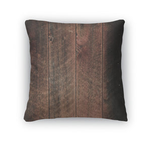 Throw Pillow, Rustic Wood Red And Black