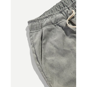 Men Corduroy Drawstring Pants