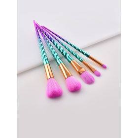 Screw Handle Design Makeup Brush Set 5Pcs
