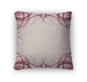 Throw Pillow, Abstract Floral Grunge Pattern