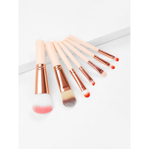 Wood Handle Professional Makeup Brush 7pcs