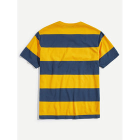 Men Two Tone Wide Stripe T-shirt