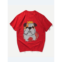 Men Single Dog Print Tee