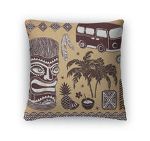 Throw Pillow, Vintage Aloha Tiki Set