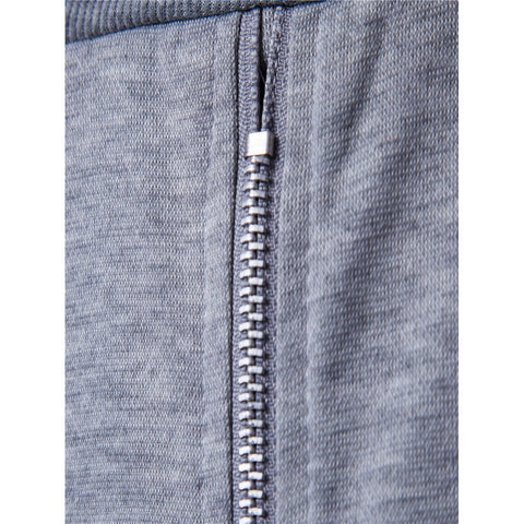 Men Zipper Through Solid Pants