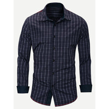 Men Plaid Collar Shirt