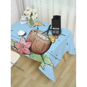 Floral & Bottle Print Table Cloth