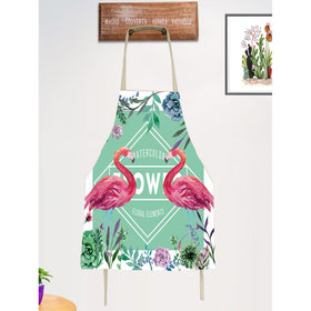 Flamingo & Flower Print Apron