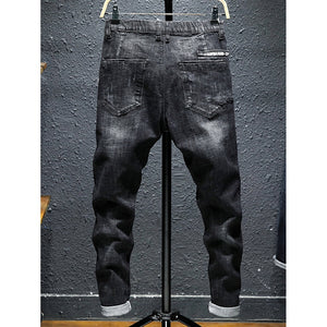 Men Ripped Knot Front Jeans