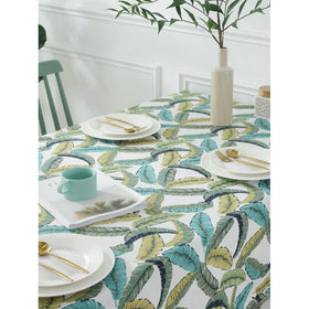 Feather Overlay Print Table Cloth