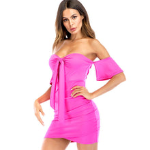 Knot Front Cut Out Tube Dress