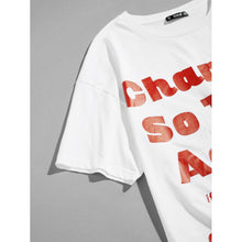 Men Letter and Number Print Tee