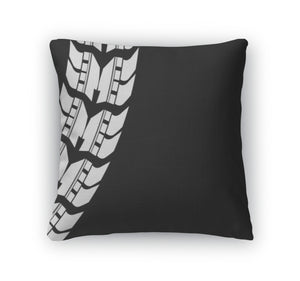 Throw Pillow, Special Detailed Tire Prints Eps10