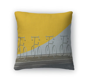 Throw Pillow, Four Bicycle Holders