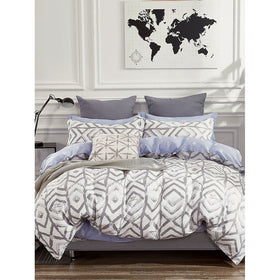 Geometric & Feather Duvet Cover 1PC