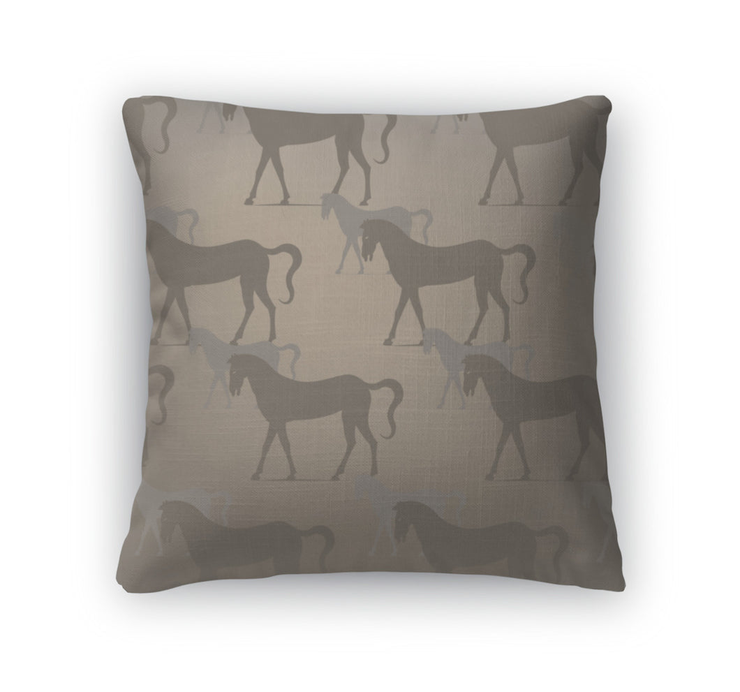 Throw Pillow, With Horses