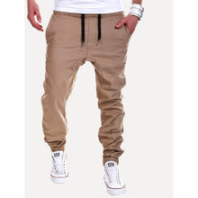 Men Elastic Foot Drawstring Pants