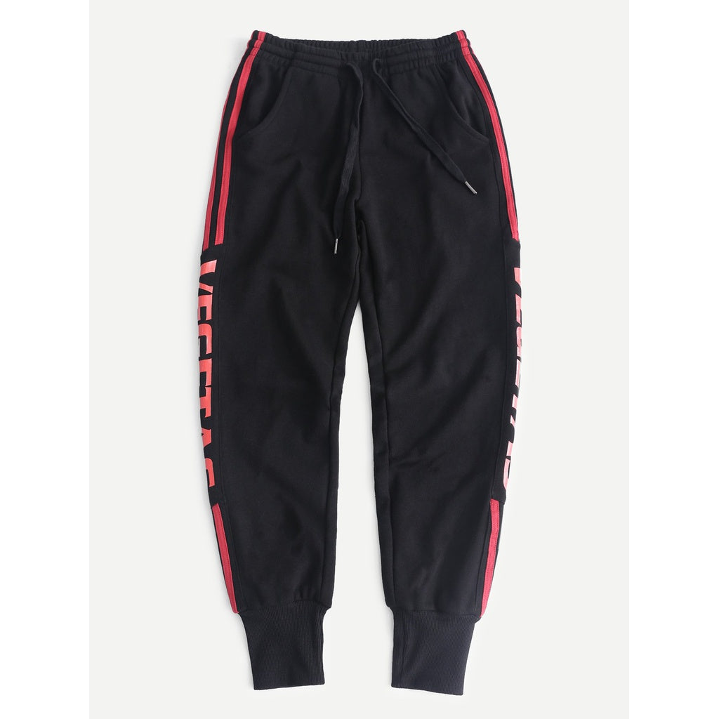 Men Letter Print Sweatpants