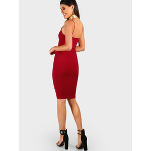 Sleek Cami Bodycon Midi Dress