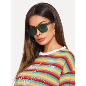 Flat Top Tinted Lens Sunglasses
