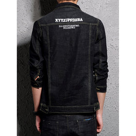 Men Embroidery Detail Patched Jacket