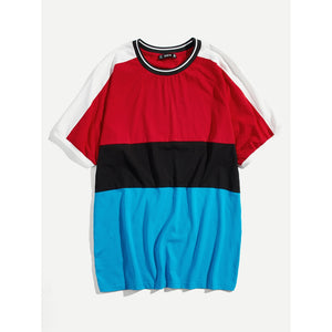 Men Cut and Sew Ringer Tee