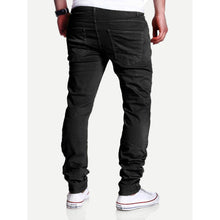 Men Slim Fit Ripped Crop Trousers