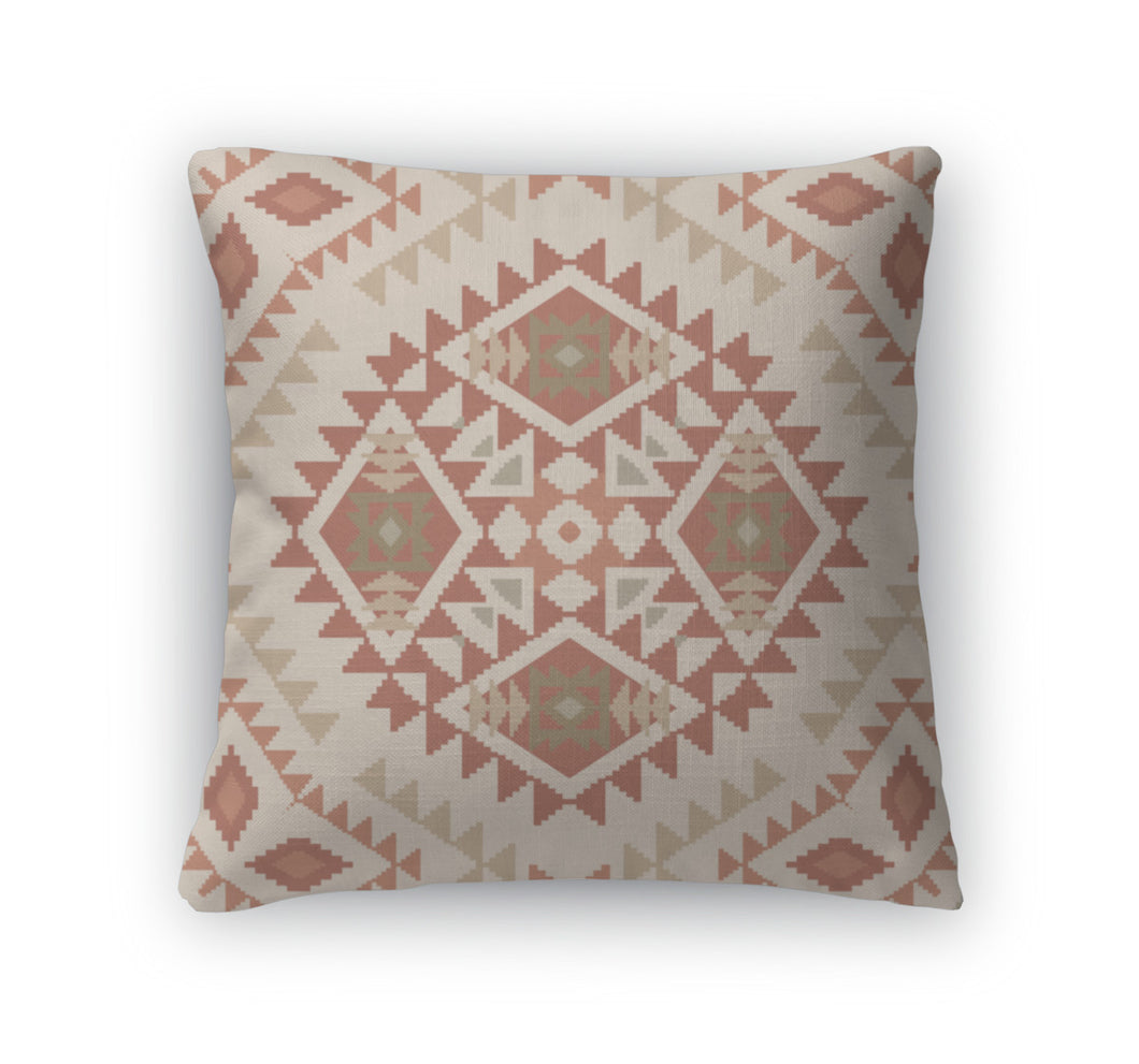 Throw Pillow, Abstract Pattern In Tribal Navajo Style