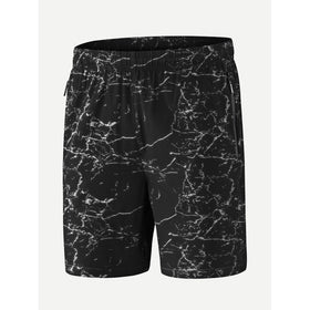 Men Elastic Waist Shorts