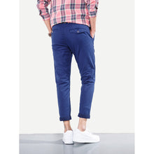 Men Skinny Plain Pants