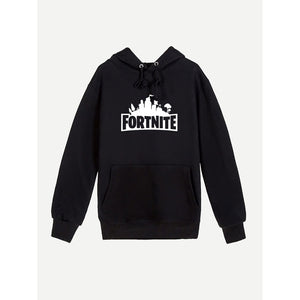 Men Letter Print Hooded Sweatshirt