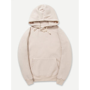 Men Plain Hooded Sweatshirt
