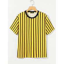 Men Striped Short Sleeve Tee