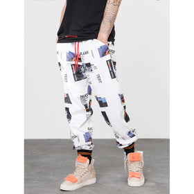 Men Figure And Letter Print Pants