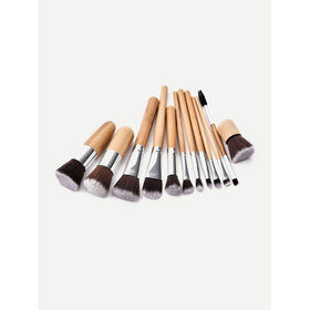 Wood Handle Makeup Brush 12pcs