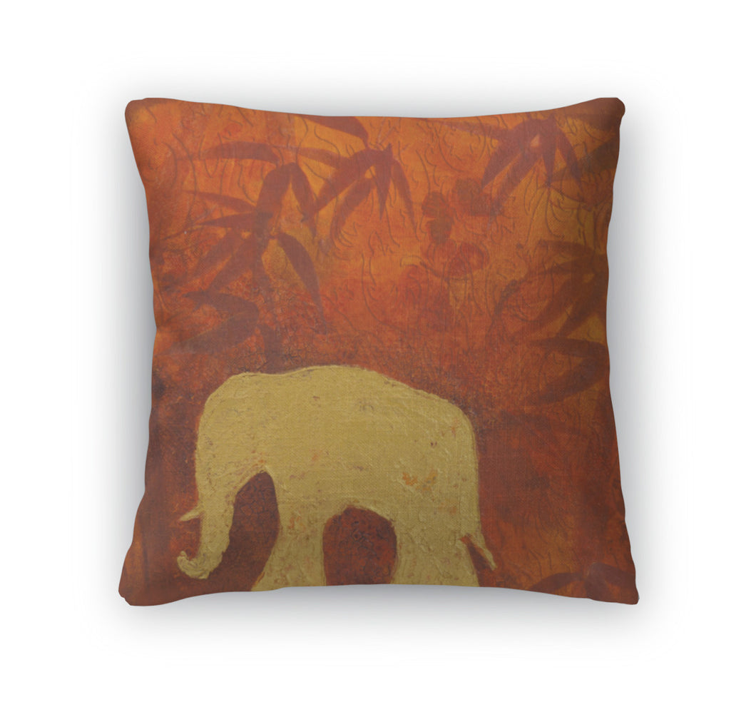 Throw Pillow, Elephant Painting