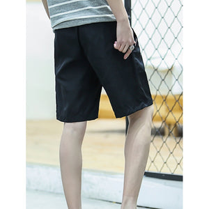 Men Plain Drawstring Shorts