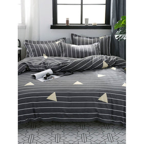 Striped & Geometric Print Sheet Set